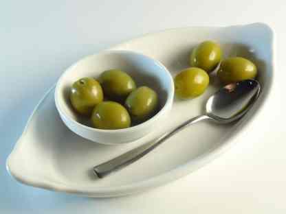 Халкидикис Зелені оливки з кісточкою морській солі ПЕТ-пакетик 3кг калибр Jumbo 181-200 70315