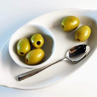 Халкидикис Зелені оливки без кісточки в морській солі 3л ПЭТ-банка 1.75 кг с.в. калибр S.Mammoth 91-100 70475