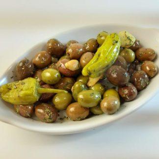 Наполі мікс оливок, маслин та перчиків