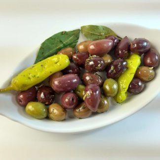 Корінф мікс оливок, маслин та перчиків