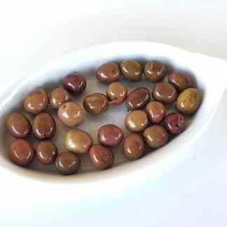 Селянські мармурові смарагдові оливки з кісточкою морській солі ПЕТ-пакетик 1.8 кг с.в. Superior 261-290 70553