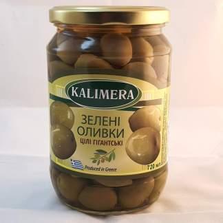 KALIMERA Гігант 141-160 Зелені оливки з кісткою 720 мл 420г.св