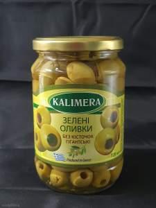 KALIMERA Гігант 141-160 Зелені оливки без кісточки 720 мл 340г.св