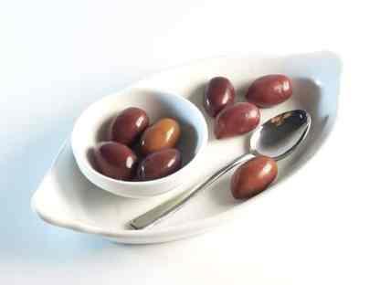 Органические Крупные Каламатас Маслини з кісточкою Вакуумний п у картонній коробці 250г вес оливок