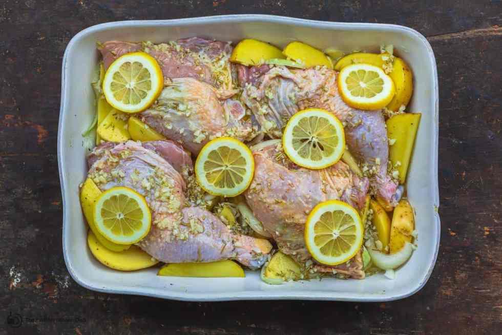 Запеченный греческий цыпленок