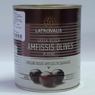 Амфисис Чорні JUMBO 181-200 з кісточкою 900/400с.в. маслини, 52010