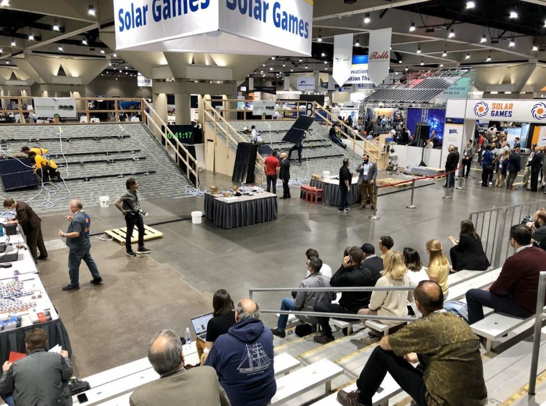 solar games setup at intersolar north america