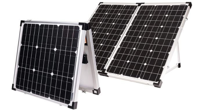 digital rendering of gopower! portable solar panel kit