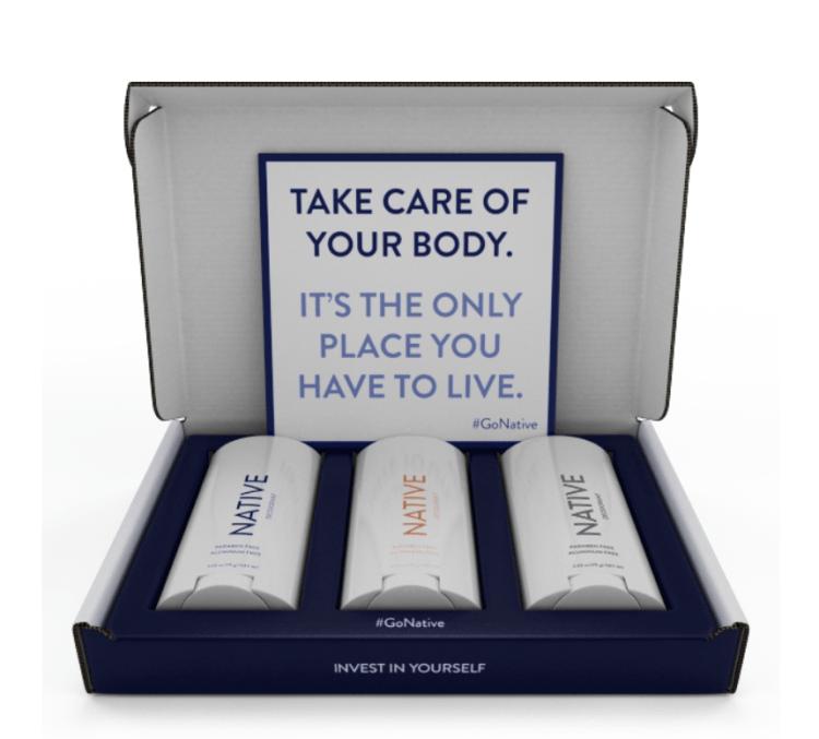 native deodorant packaging