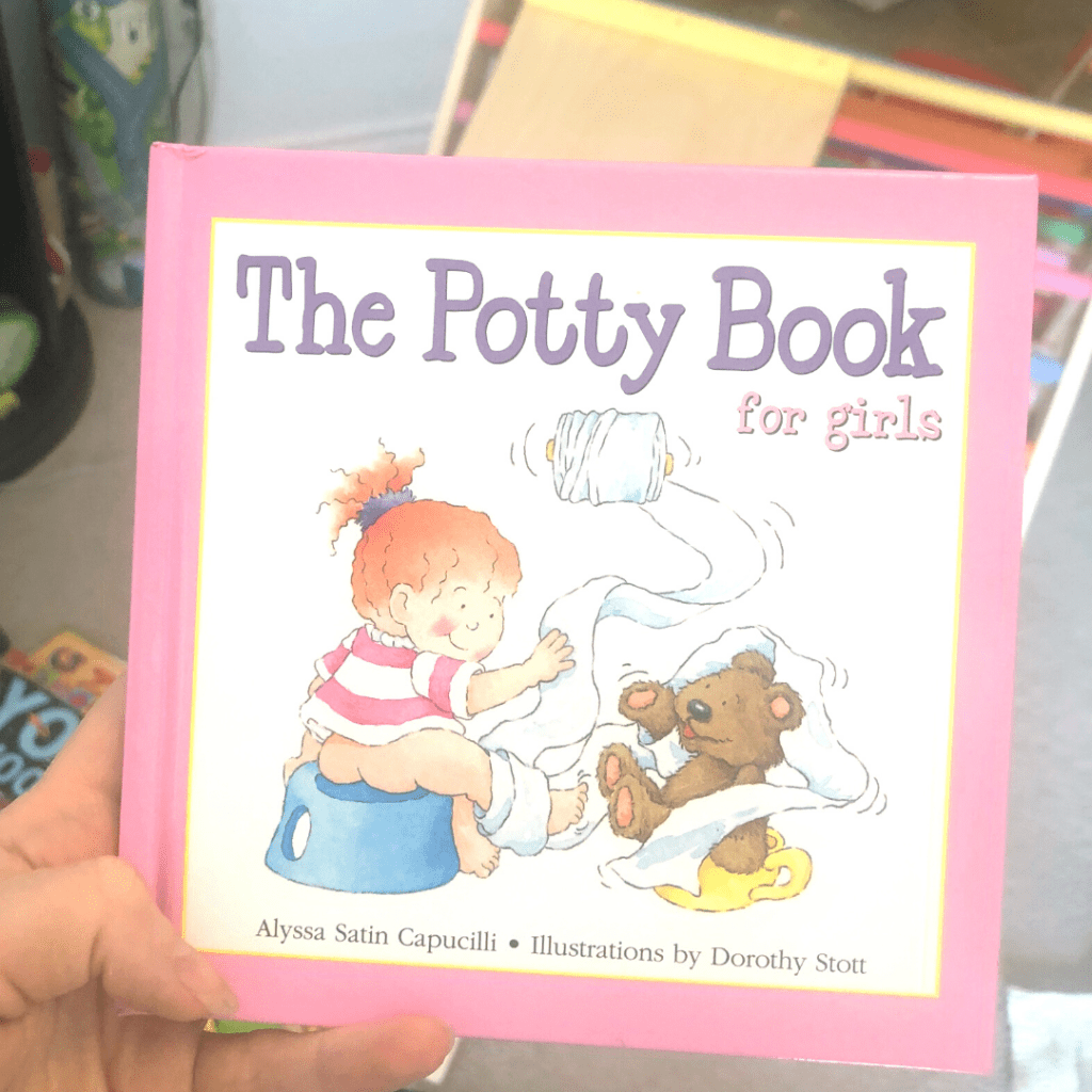 The potty book for girls, when to start potty training, potty training routine
