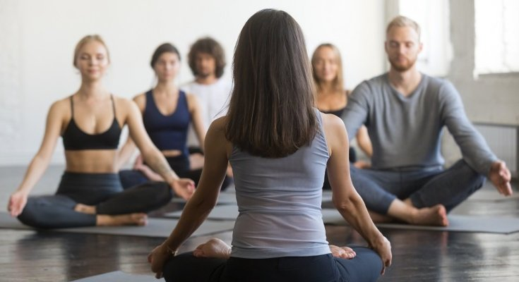 Practice yoga to relieve stress