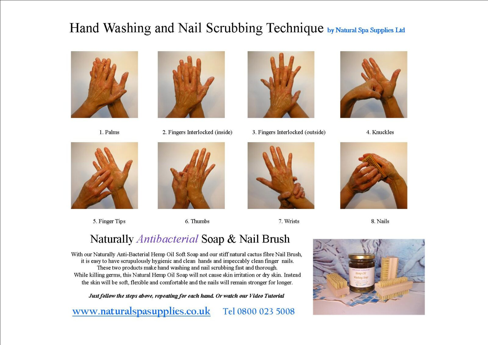 Hand Washing And Nail Scrubbing Kit Naturally