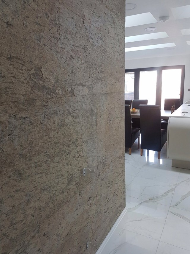 Living Room Feature Wall Decor: Auro Slate Veneer Office Feature Wall Project