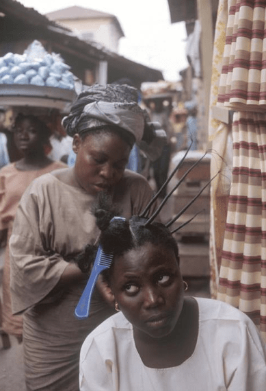 Protective Hairstyle African Hair Threading