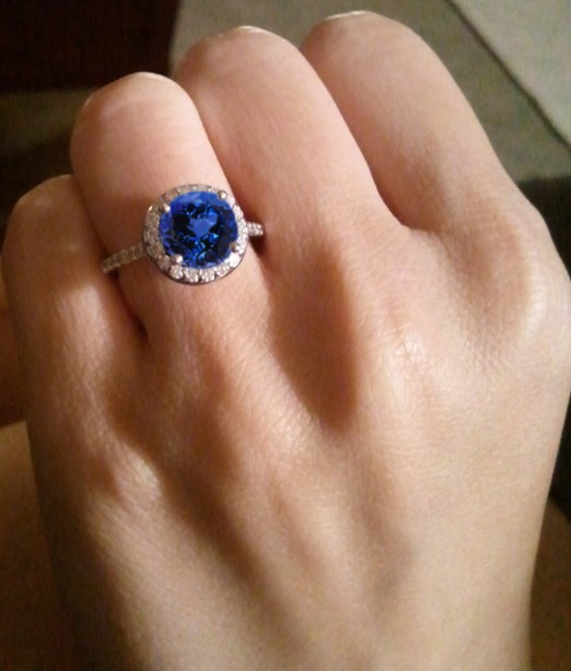 Tanzanite Engagement Ring