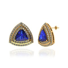 Trillion Tanzanite Earring