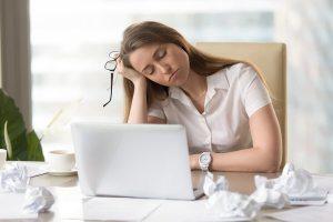 Tired at work-sleep deprived 1