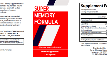 super memory formula review label