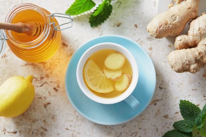 Ginger Lemonade with honey