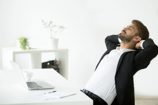 Relax - Relieve Stress - Mental Health- Young-Businessman