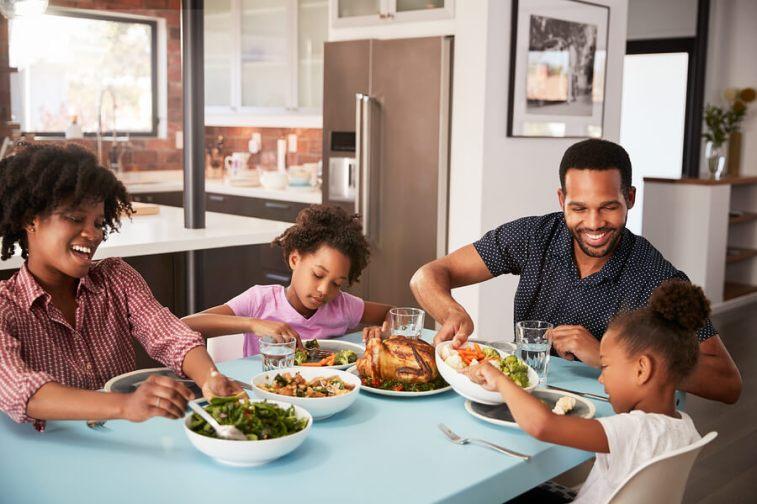 Family enjoying meal