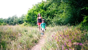 Health benefits walking trails feature