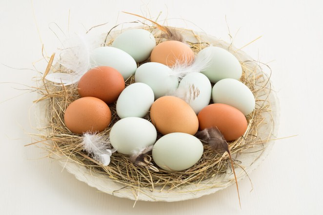 Natural colored eggs