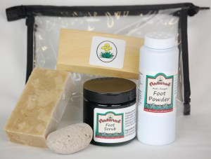 natural, foot care, kit, foot scrub, exfoliating, anti-fungal, foot powder, pumice stone, anti-bacterial, yucca soap, www.naturalyuccaproducts.com,