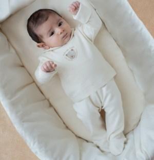 Ghettine per neonati con ricamo orsetto