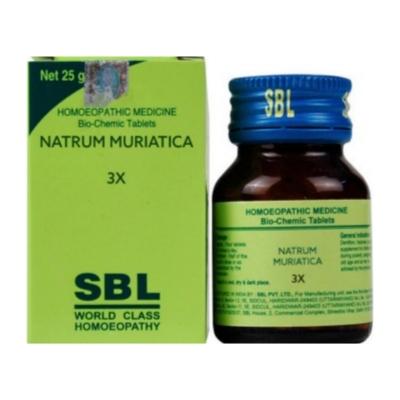 Sbl Natrum Muriaticum 3X 25G Natura Right