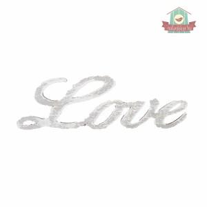Love felirat, antikolva