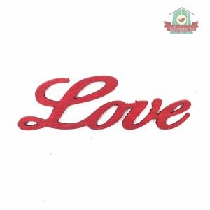 Love felirat, vörös színben