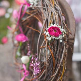 Bérelhető kopogtató élő virágokkal