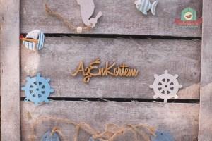 """Fából készült """"Az én kertem"""" felirat"""
