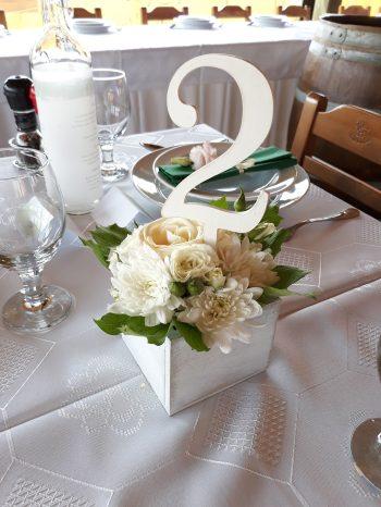 Asztaldekoráció, Kökény és Fia Borászat