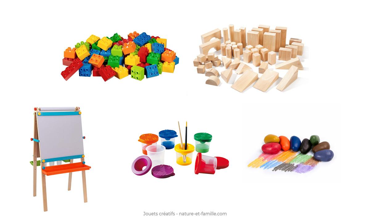 jouets creatifs lego dessin peinture Montessori