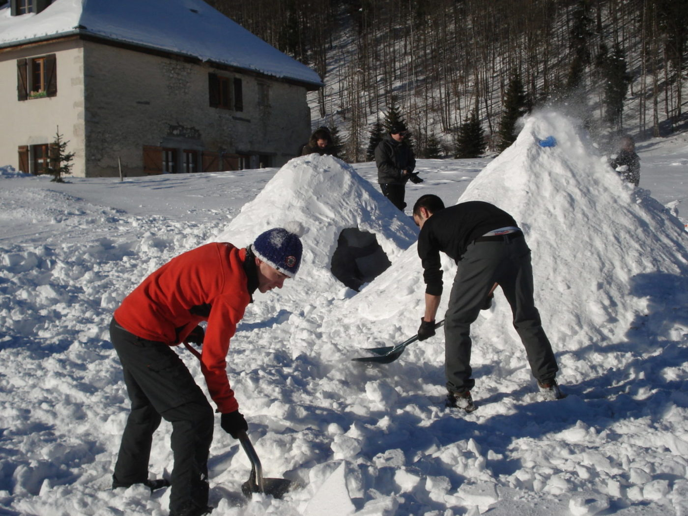 Construction d'igloo