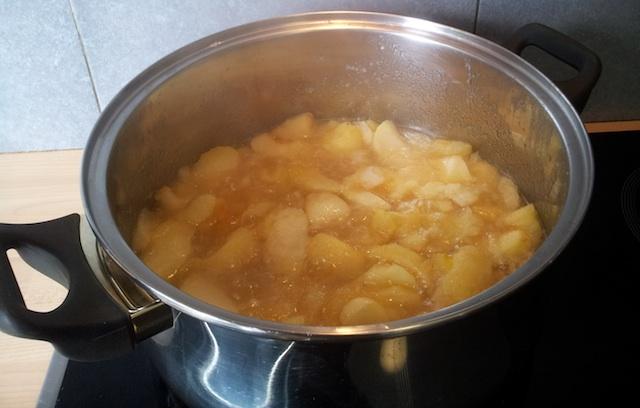 Cuisson de la compote de pommes