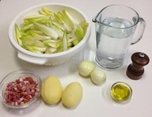 Ingrédients de la soupe aux chicons