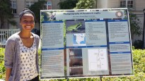 Emani Harris presents her research project at Cal Day
