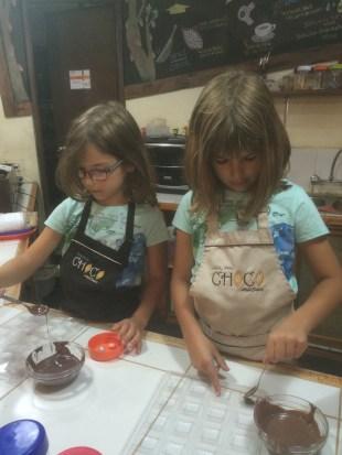 Making chocolate...yum!
