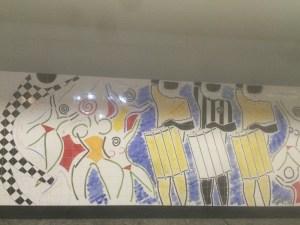 Subway station art