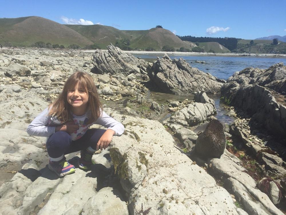 Hannah & NZ fur seal