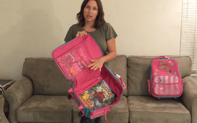 Traveling with kids? Check-out this review of Stephen Joseph's rolling luggage