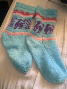 Packing List add-on: My wool socks from Peru. One of the few things I bought along the way.