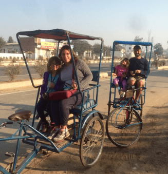 Bicycle rickshaws at Bharatpur