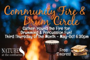 Community Fire Gathering & Drum Circle @ Nature At The Confluence Campus