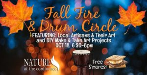 Fall Fire & Drum Circle @ Nature At The Confluence Campus