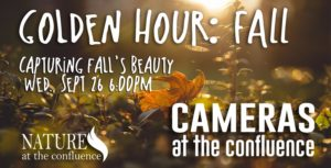 The Golden Hour : FALL – Cameras At The Confluence Photographer Meetup @ Nature At The Confluence Campus