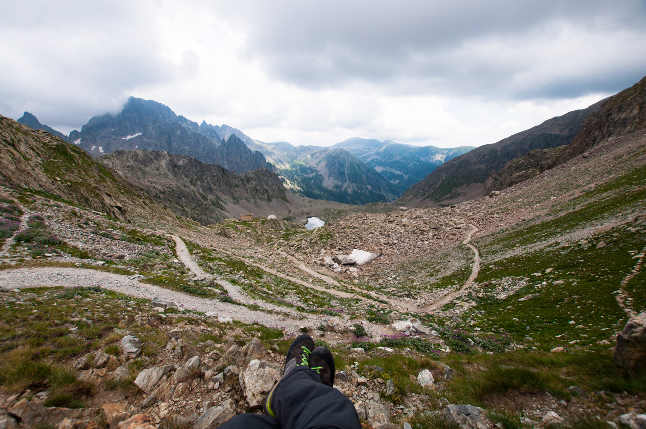 Col de Fenestre - vue sur le versant français